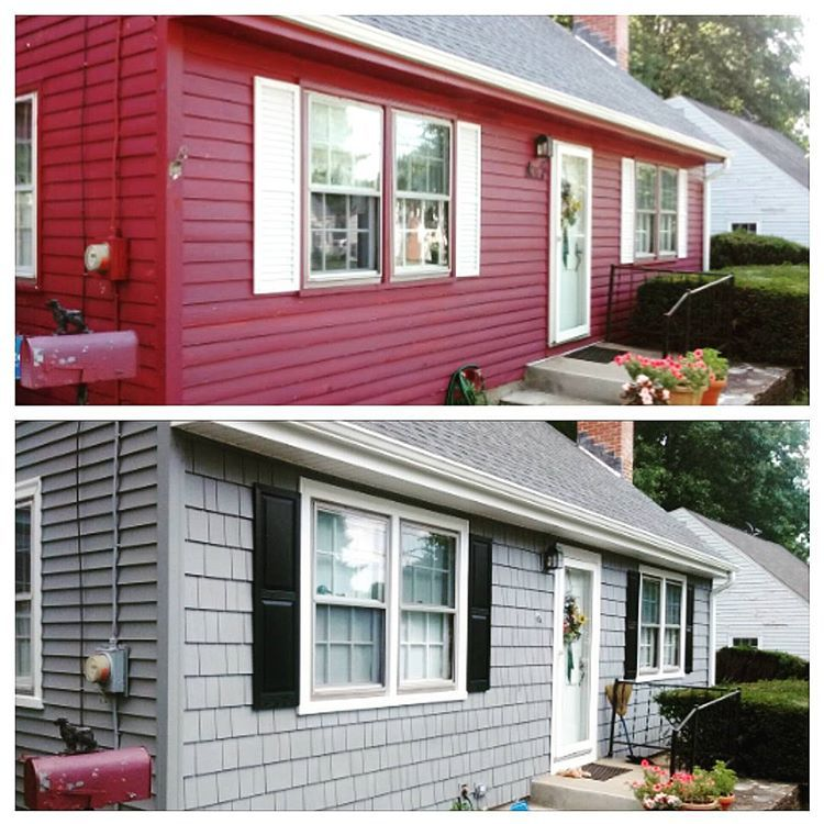 Recently Completed Siding Job In West Hartford With Certainteed Monogram Horizontal Double Four Inch Siding And Cedar Impressi Certainteed Siding West Hartford