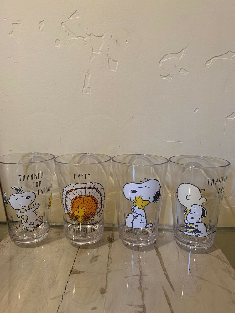 4 New Pottery Barn Kids Peanuts Snoopy Thanksgiving