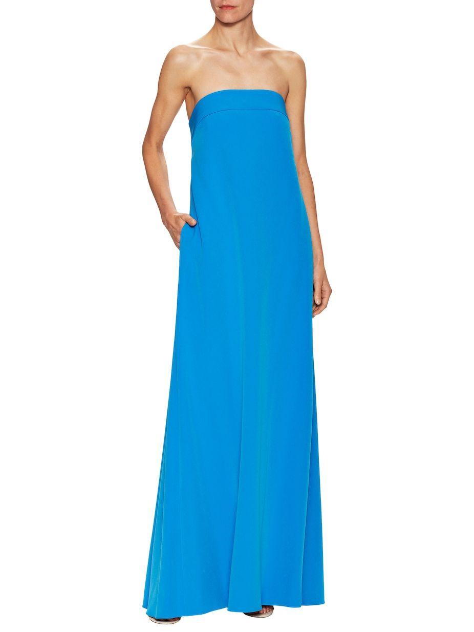 Milly Italian Cady Vanessa Maxi Dress Strapless Dress Formal Dresses Maxi Dress [ 1234 x 926 Pixel ]