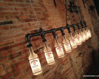 Industrial Beer Lamp Bottle Lighting Steampunk Fixture Faucet