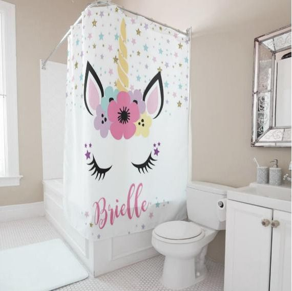 Personalized Unicorn Shower Curtain #Unbranded #Unicorn
