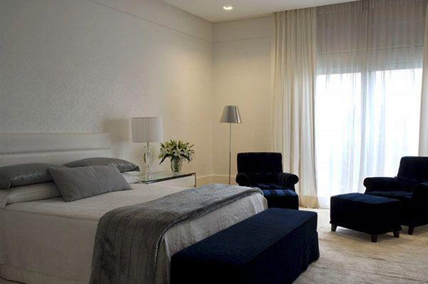 10 quartos de casal com papel de parede