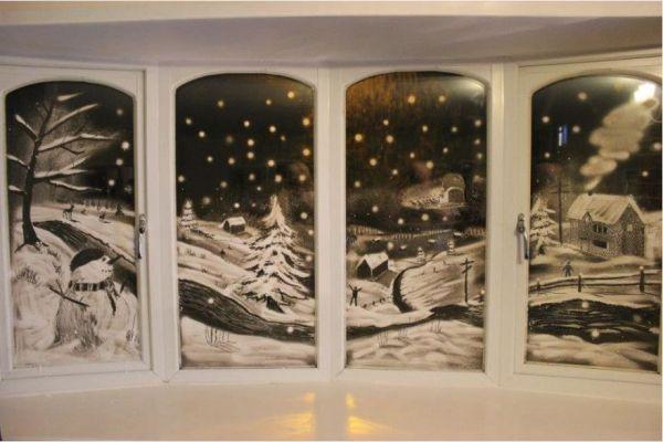 Tom Bakers Snow Windows Neat Art Snowy Window Window Snow