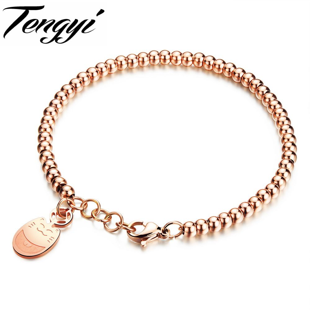 bangle stainless plated gold bracelet jewelry lady titanium bracelets pp steel bangles rose