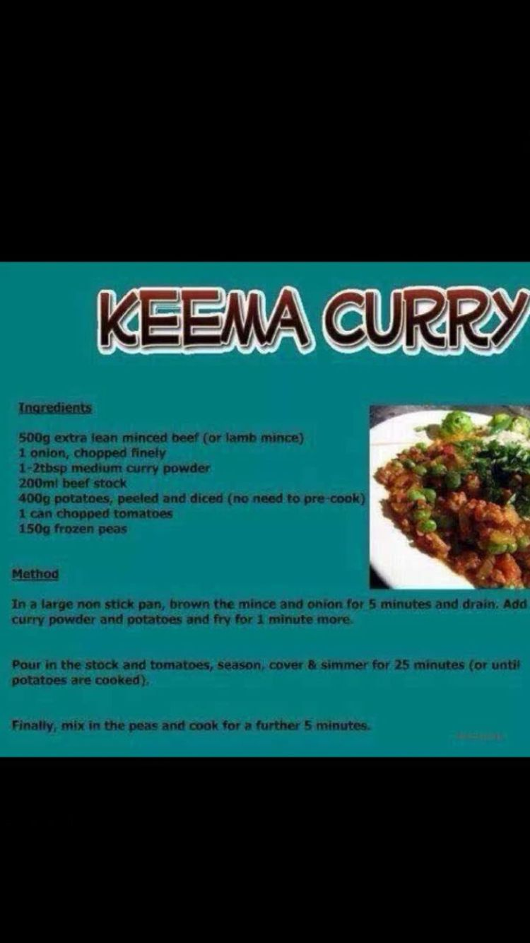 Keema Curry Slimming World Keema Curry Curry Ingredients
