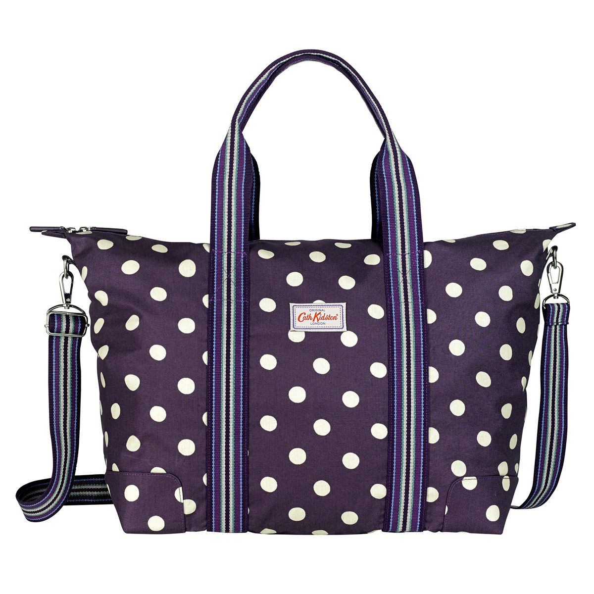Button Spot Foldaway Overnight Bag  5933959e2ecf0