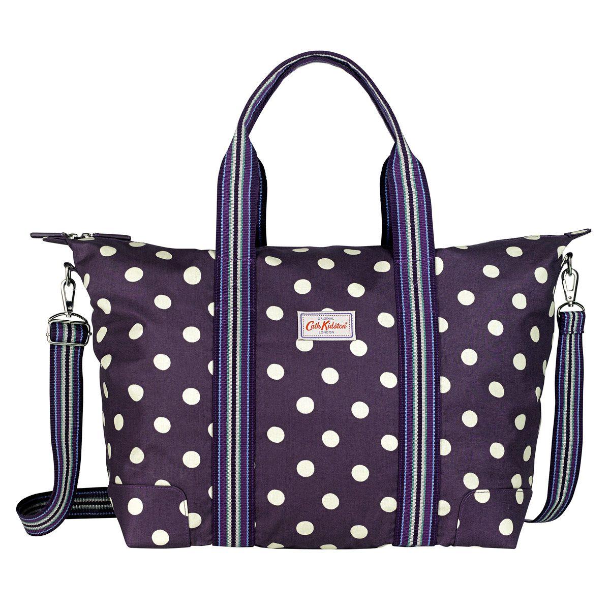 Button Spot Foldaway Overnight Bag | Cath Kidston | | ᏟᎪᎢᎻ ...