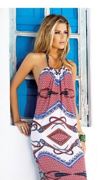 Long French Riviera Boho Halter Dress - ONLY 2 Left!!!! http://www.allyandashley.com/lofrribohadr.html