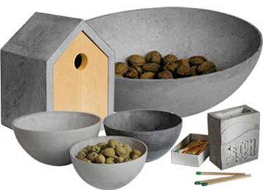 beton ideen zum selbermachen vase schale vogelhaus kerzenhalter concrete beton und. Black Bedroom Furniture Sets. Home Design Ideas