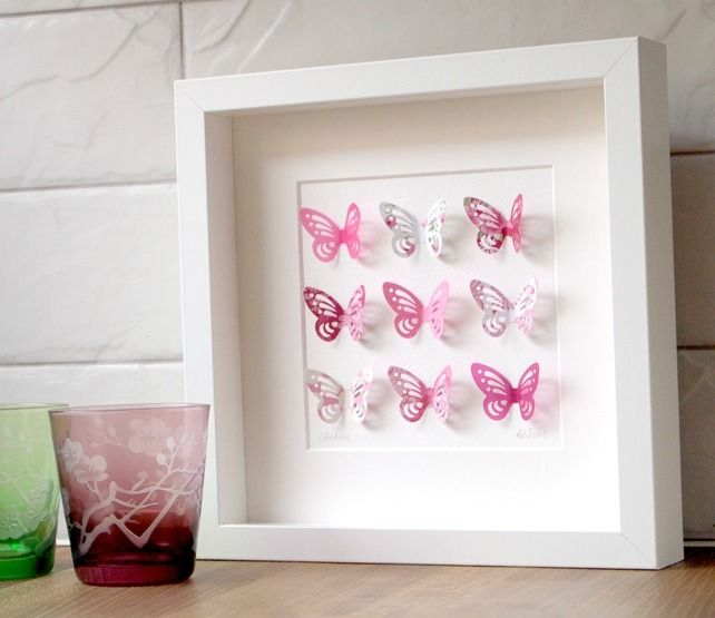 Butterfly Collection Pink in Small Box Frame | Frames | Pinterest ...