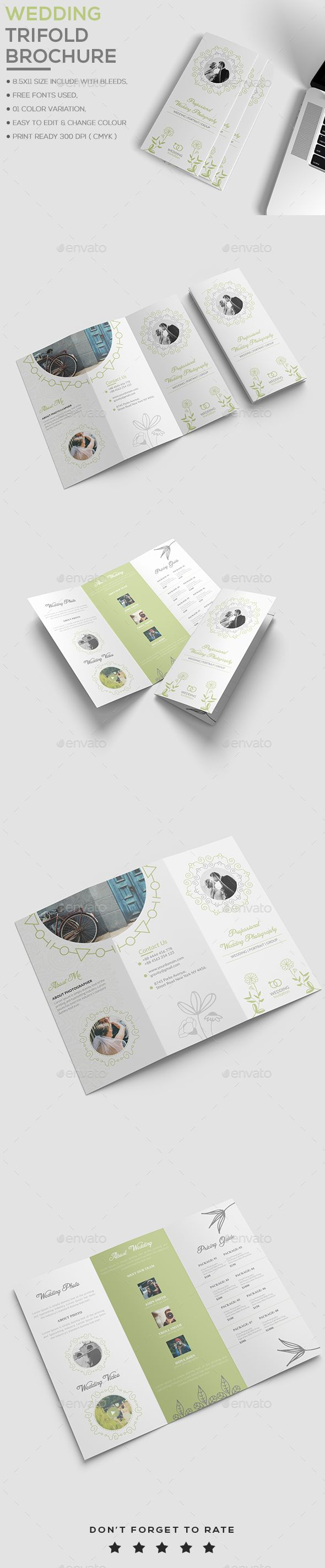 Wedding Brochure Template Brochure Template Brochures And Template