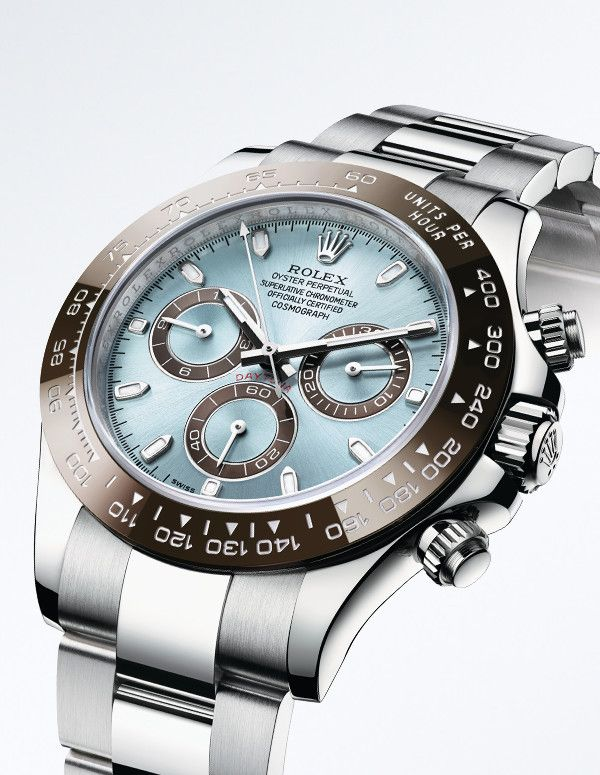 0744a24f46d Rolex Cosmograph Daytona in 950 platinum, with the exclusive ice blue dial  reserved for Rolex watches in platinum.