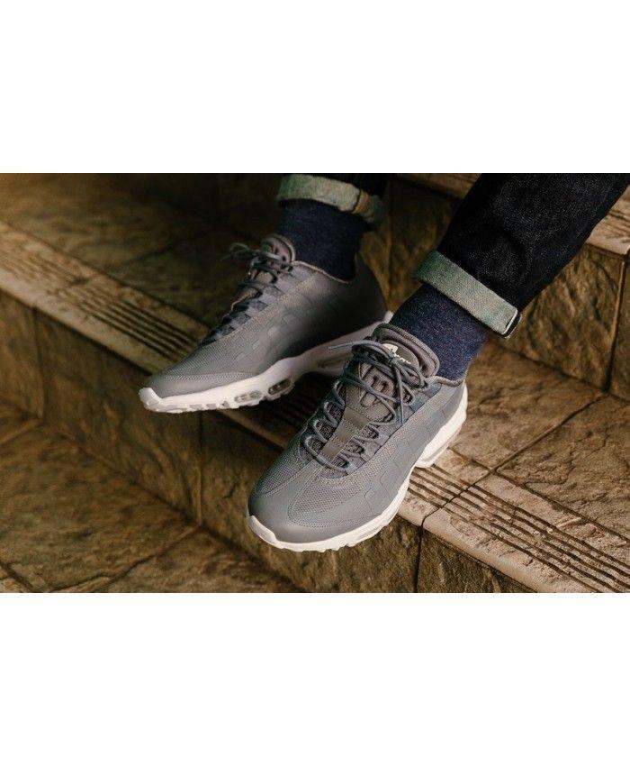 459aa62334 nike air max 95 ultra essential cool grey Nike Air Max 95 Ultra Essential  Cool Grey/White Men's Shoes | Nike .