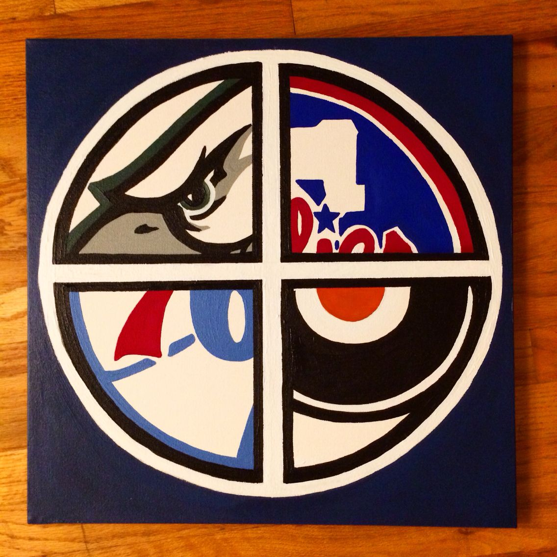 Philadelphia Sports Painting Sports Painting Diy Canvas Art Painting Philadelphia Painting
