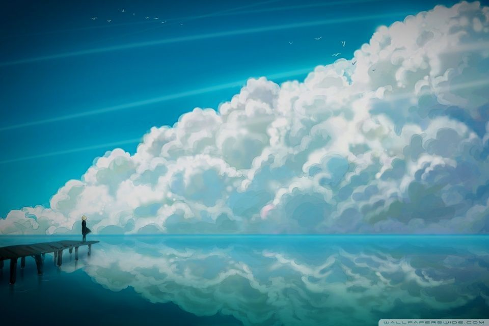 Sky Anime HD Desktop Wallpaper Widescreen Fullscreen Mobile