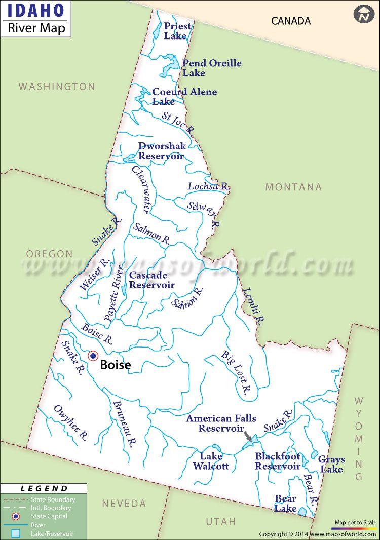 priest river idaho map Idaho River Map Canada Lakes Priest River Map priest river idaho map