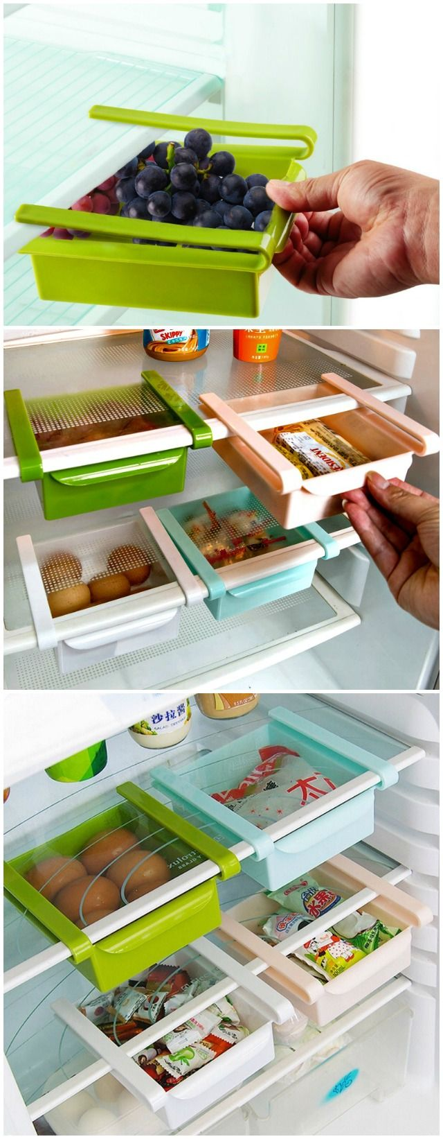 Double your Storage Space with the Refrigerator Sliding Drawer - GetdatGadget