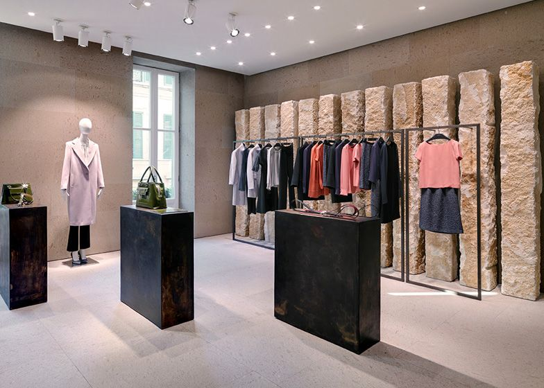 Giada milan fashion boutique interior design by claudio for Interior designs of boutique shops