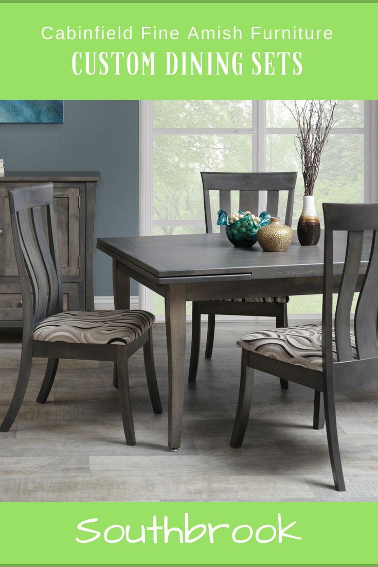 Available In Oak, Brown Maple Or Cherry Wood, This Custom Finished 4 Piece  Southbrook Dining Set Includes A Table U0026 3 Side Chairs. #contemporary # Dining # ...