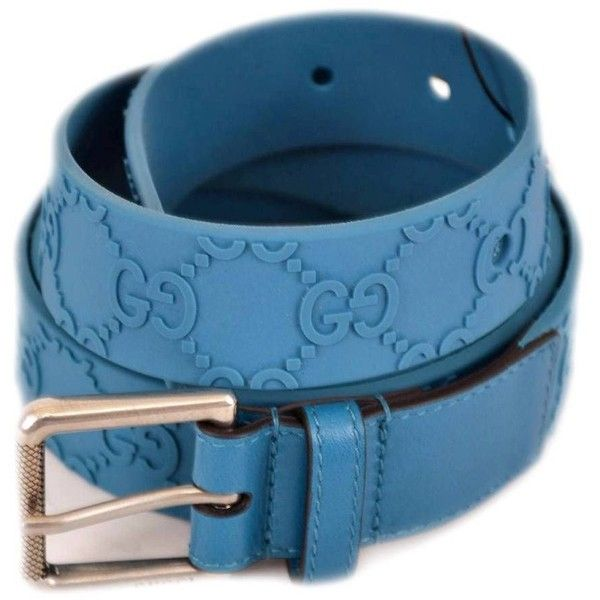 Pre-owned Gucci Belt ($265) ❤ liked on Polyvore featuring accessories, belts, apparel & accessories, blue, clothing accessories, rubber belt, blue belt, gucci belt, buckle belt and gucci