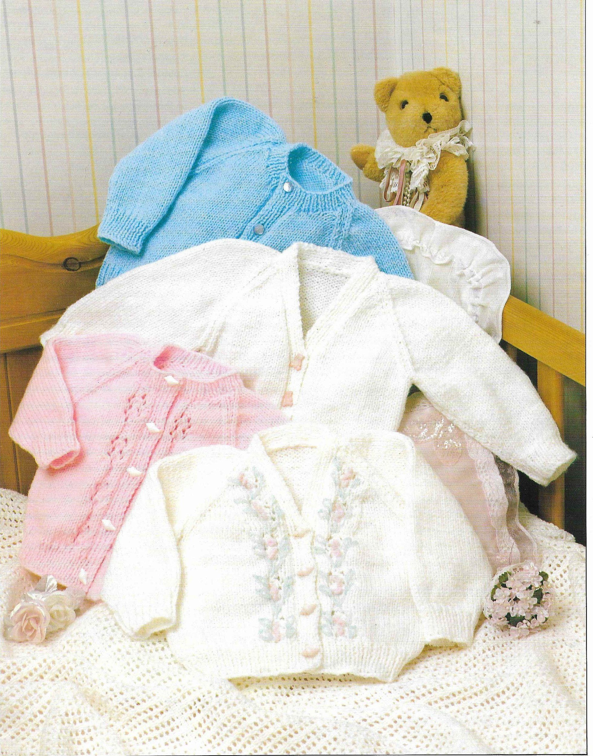 1d06353f7eb4 Baby Cardigans Knitting Pattern PDF Lace Cardigan DK Boy Girl ...