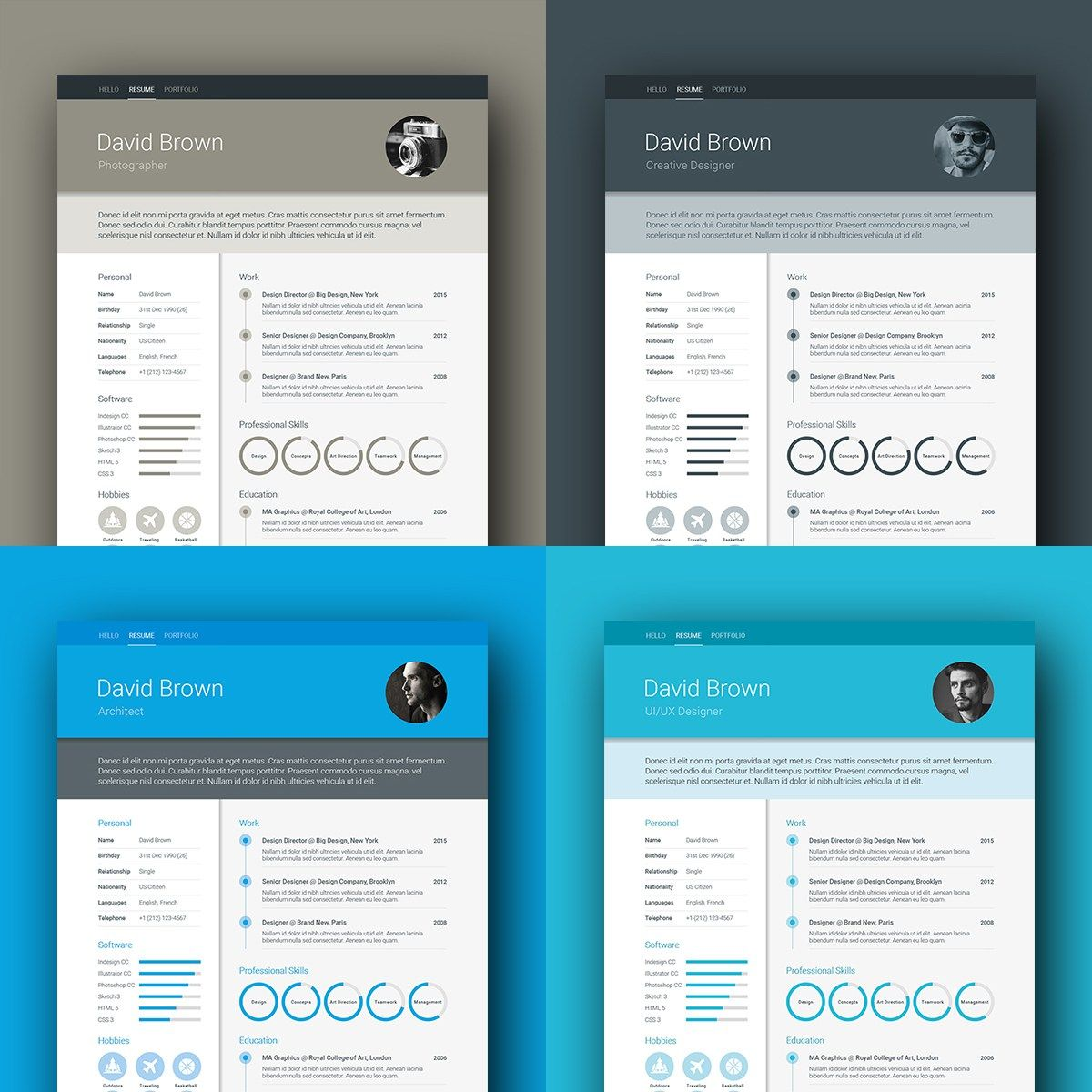 Cv Templates Pdf%0A Colour option  Material Resume template by ikono me