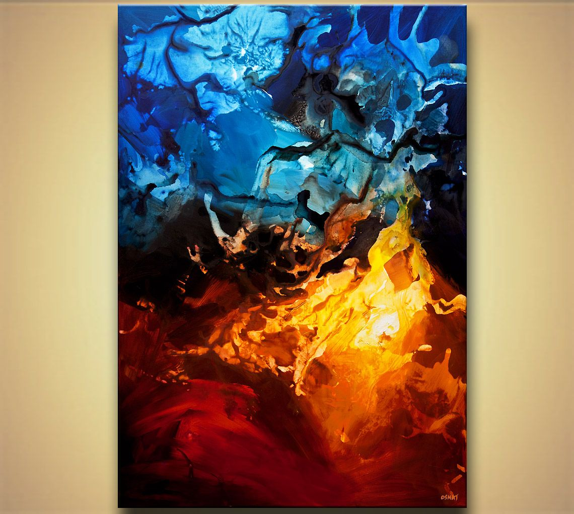 Abstract Art Osnat Tzadok Magic Painting Contemporary Ice