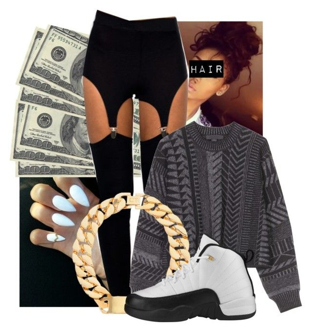 """""""keeping it 100"""" by kdheart1 ❤ liked on Polyvore featuring Alexander Wang and Retrò"""