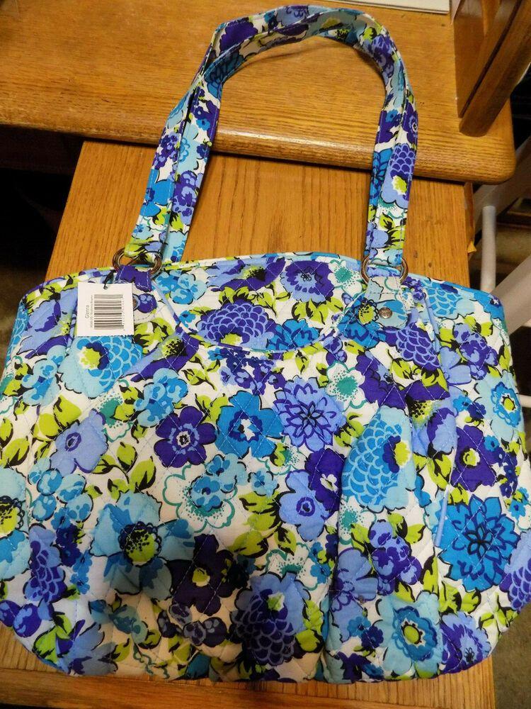 a9bc7b51d20e New Vera Bradley BLUEBERRY BLOOMS Glenna Shoulder bag Tote Purse Handbag  NWT  VeraBradley  PURSE