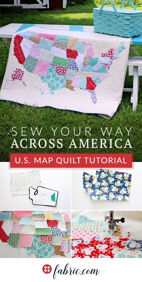 U S  Map Quilt Tutorial is part of Map quilt, Map quilt pattern, Quilts, Usa quilt, Quilt tutorials, Camper quilt - Let's make a U S  Map Quilt together! Flamingo Toes Blog shows us how to make an amazing quilt featuring a map of the U S   Come get inspired with us today!