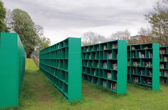 Bookyard, una biblioteca al aire libre en Gante, Belgica. (2)
