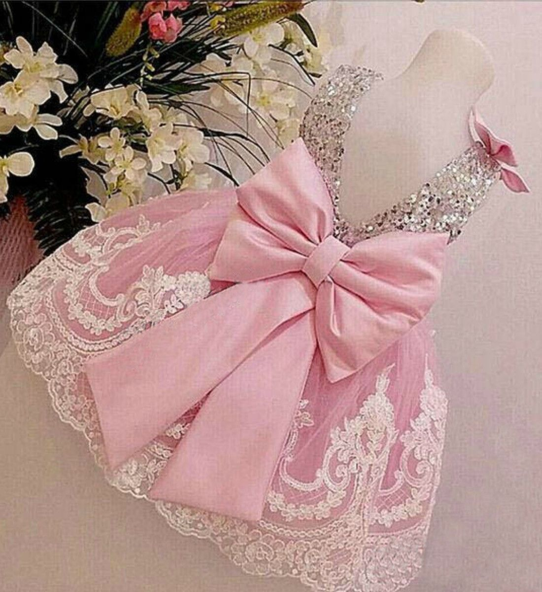 Lace dress for baby girl  Sequin Floral Lace Dress  Bebe  Pinterest  Chart