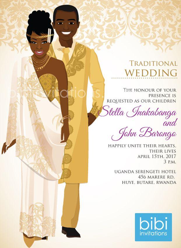 Rwandan Traditional Wedding Invitation Engagement Invitations, Floral Wedding Invitations, Wedding Invitation Cards, Wedding