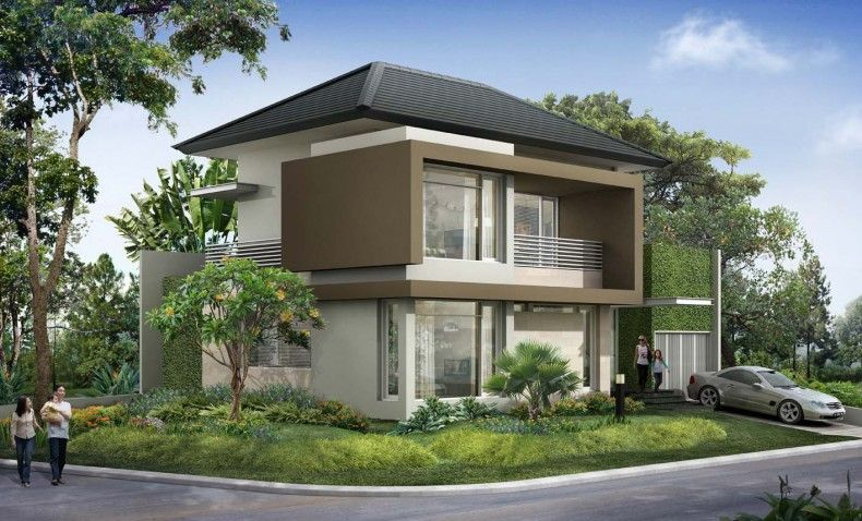Modern tropical house architecture the corner house with for Modern tropical house design