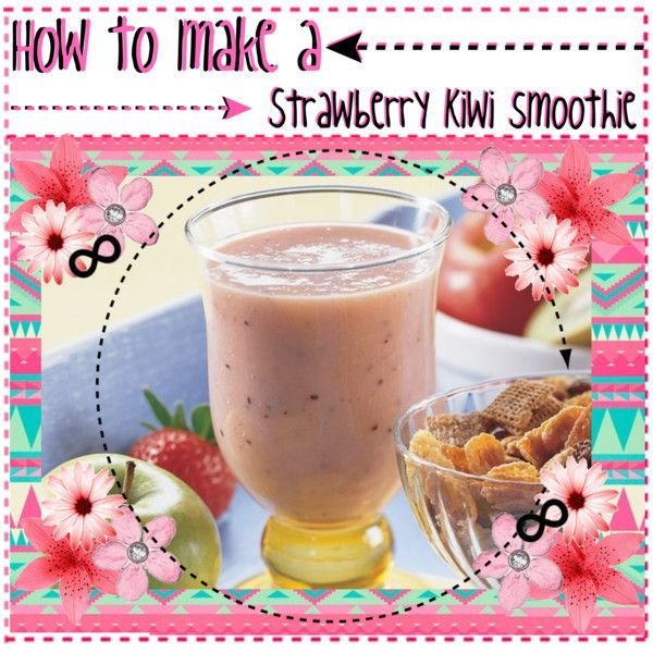 How to make Strawberry Kiwi smoothies // Caroline