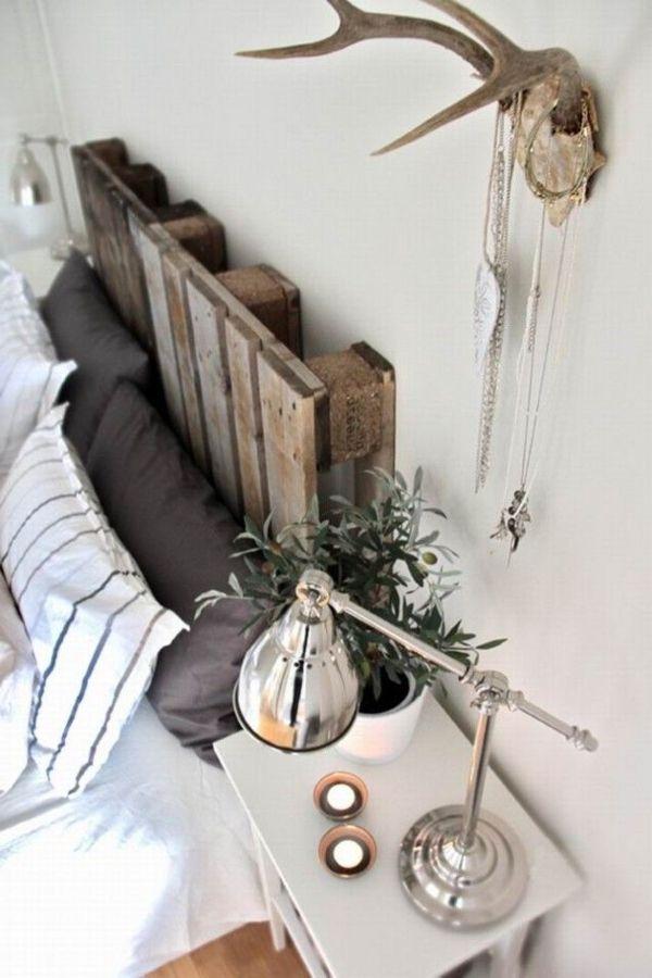 schlafzimmer gestalten kopfteil für bett schöne diy ideen | diy ...