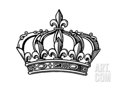 Fleur De Lis Crown Art Print By Pop Ink Csa Images At Art Com