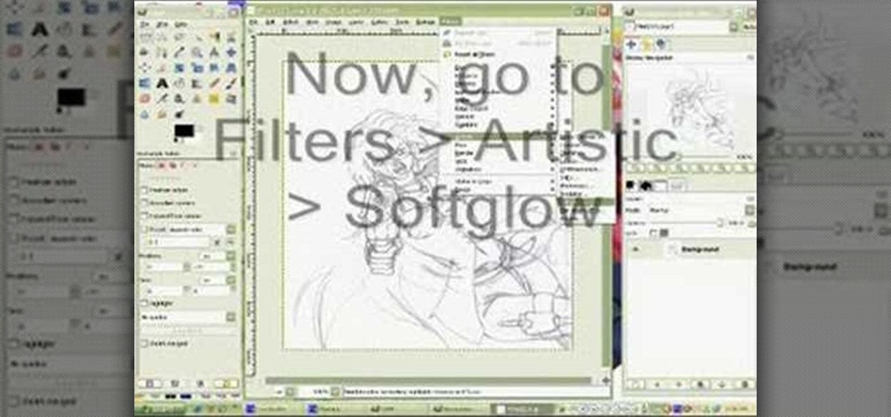 How To Clean Up A Scanned Drawing With The Gimp Image Editor Coloring Tutorial Gimp Tutorial Gimp