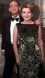 Beautiful fabric and dress!! (Brenda Blethyn and husband Matthew ...