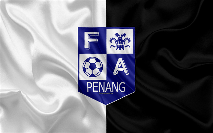 Download wallpapers Penang FA, 4k, logo, silk texture