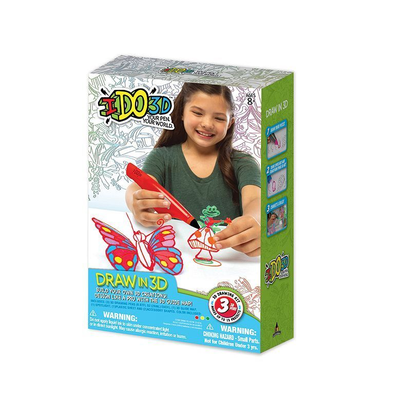 IDO3D Fifteen Project Butterflies and Fairies 3D Printing Kit, Multicolor