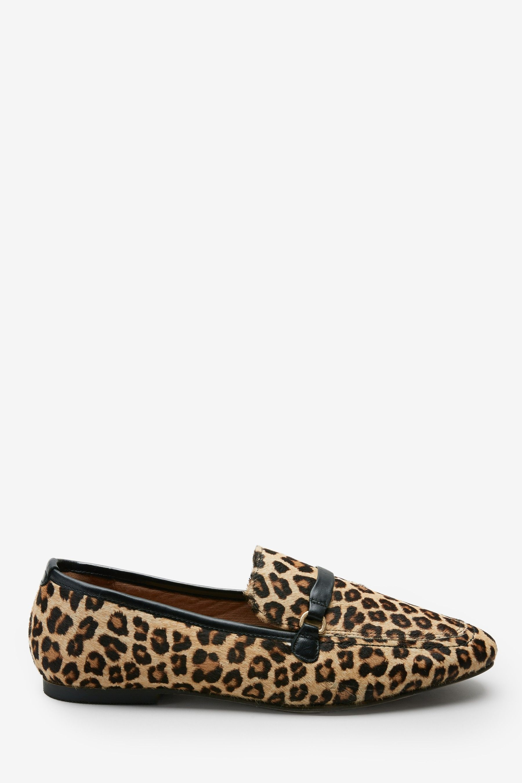 Leopard Print Leather Loafers | Leather