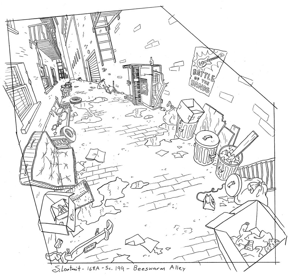 Hey Arnold Backgrounds Storyboard Drawing Background Drawing Cartoon Background