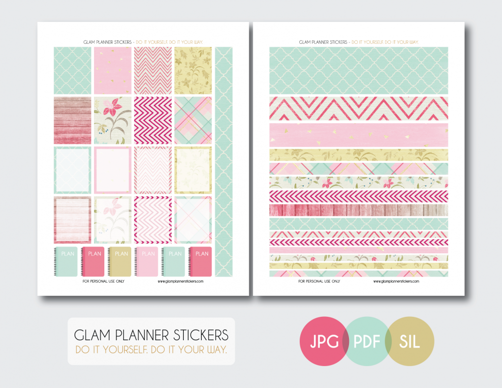 Free Monthly Printable Planner Stickers Set