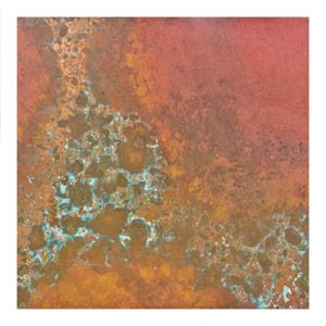 3x3 in 36 ga Rojo Patina Copper Sheet Metal by Lillypilly Designs | Fusion Beads
