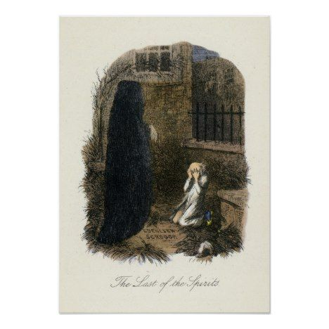 Christmas Carol - Ghost of Christmas Yet to Come Poster   Zazzle.com in 2020   Christmas carol ...