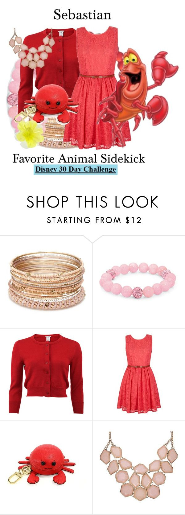 """Sebastian/3-28-16"" by megan-vanwinkle ❤ liked on Polyvore featuring Red Camel, Disney, Palm Beach Jewelry, Oscar de la Renta, Yumi, Tory Burch, Sebastian Professional and DOUUOD"