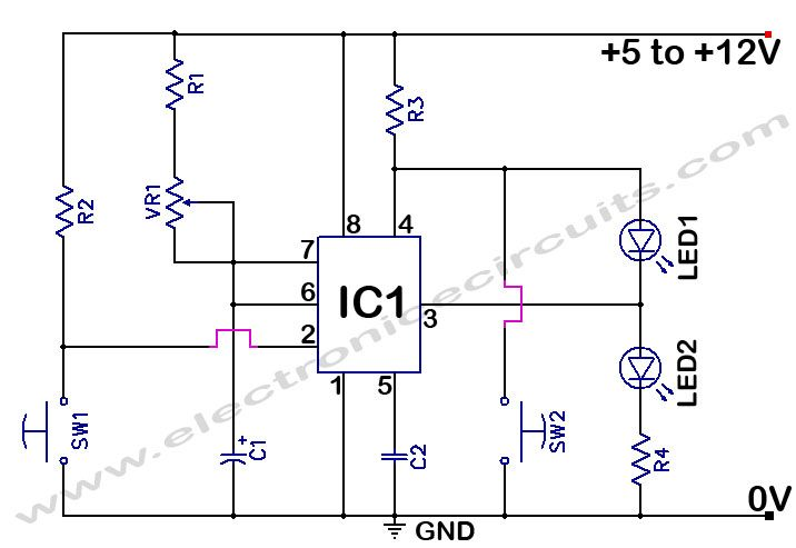 f277e48a61f15c12cf659dbe5f245d1e 555 timer time delay circuit electronics pinterest wiring diagram for off delay timer at nearapp.co
