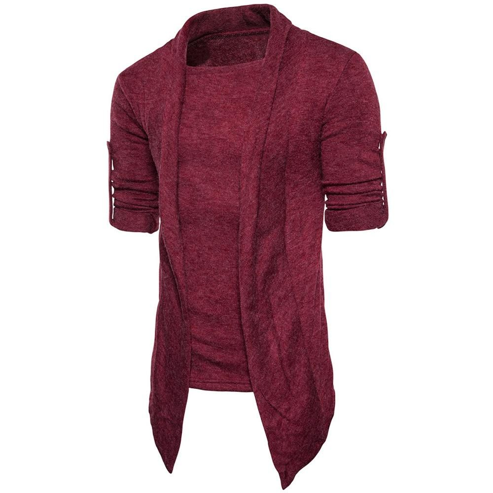 Knitted Cardigan – WINE RED / 2XL