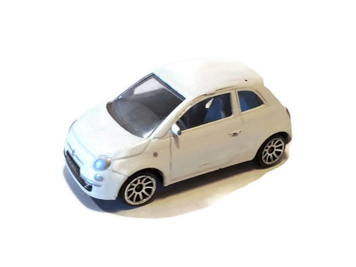 Original Collectibe Toy Car White Fiat 500 1 55 266 Used In Vgc Free